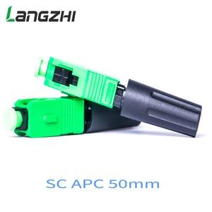 Image 4 - Langzhi 100pcs/lot SC Apc 50mm Zf Ftth Fiber Optic SC Connector SC/APC Optical Fiber Connector Sc apc Fast Connector