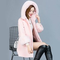 2017 New Arrival Winter Jacket Fox Fur Coat Women With High Quality Long Sleeve Leisure And