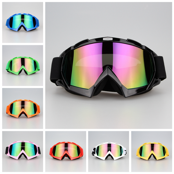 High Quality Silver Lens Adult Motorcycle goggles Motocross Bike Cross Country Flexible Goggles Clear Lens Glasses