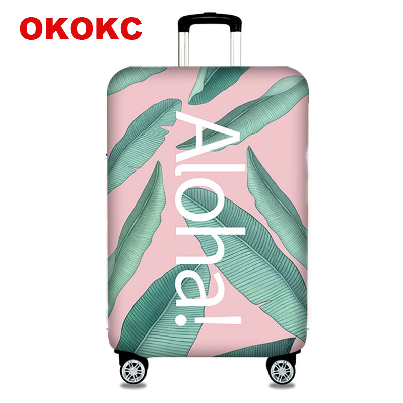 OKOKC Leaves Suitcase Protective Trunk Covers Apply To 18~32Inch Case Elastic Travel Luggage Cover Stretch Case Dust Cover