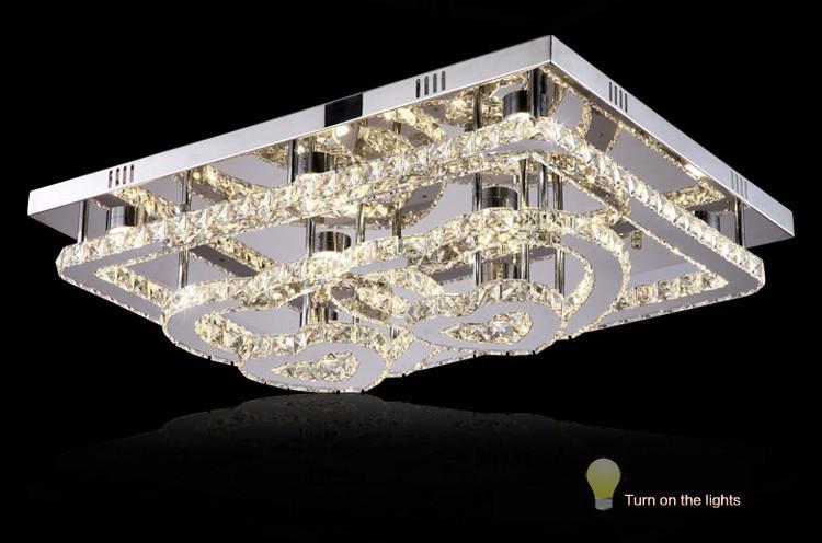 Plafoniera Rettangolare Cristallo : A forma di cuore soggiorno plafoniere led con acciaio inossidabile