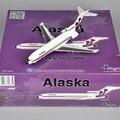 Inflight1: 200 Escala Diecast Alaska N766AS Boeing 727-100 Aviones Modelo de Aleación modelo de Avión Aviones Juguetes Aficiones Colecciones Regalos E