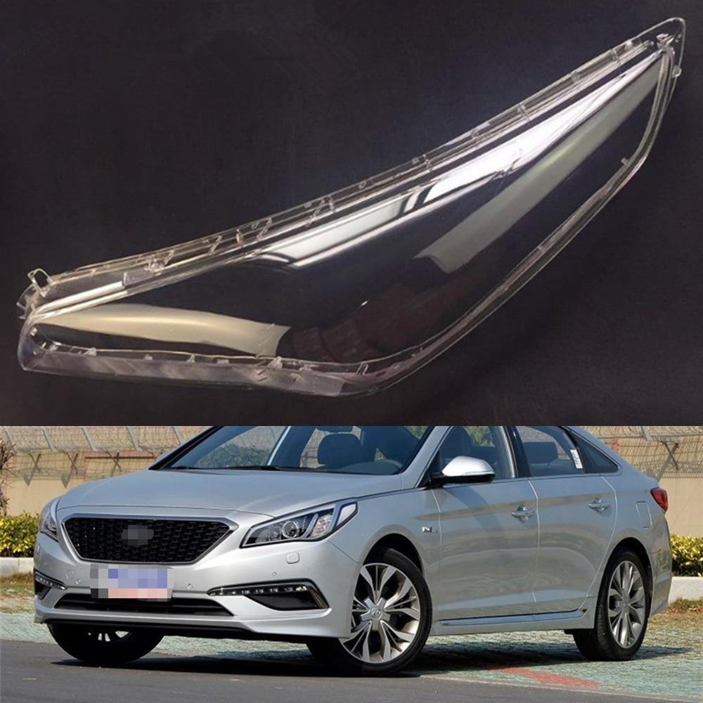 For Hyundai Sonata 2015 2016 Transparent Car Headlight Headlamp Clear Lens Front Auto Shell Cover