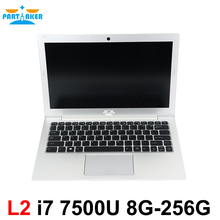 Partaker L2 Laptop Computer Windows 10 Notebook Computer 13.3 Inch Core I7 7500U with Backlit Keyboard 1920*1080 Ultrabook