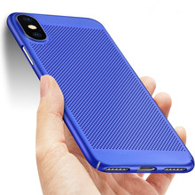 Dissipate Heat Case For iphoneX 7 8 plus Glass Ultrathin TPU Back Phone Fall Soft Silicon for iphone