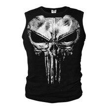 Lycra Cool T- shirt The Punisher Skull T Shirt Slim Black O-Neck Short Sleeve Tees Fashion Cotton T Shirt For Men Free Shipping round neck abstract skull pattern short sleeve t shirt for men