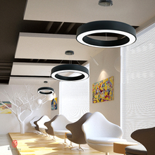 Industry Style Hanging Lights Aluminum Round Circle Ring Lamp Modern Ceiling Conference Hall Lounge Home Lighting