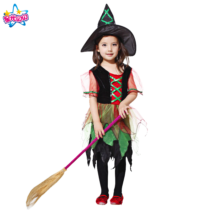 NoEnName Witch Costume For Girls Rollenspel Cosplay Performance - Carnavalskostuums - Foto 2
