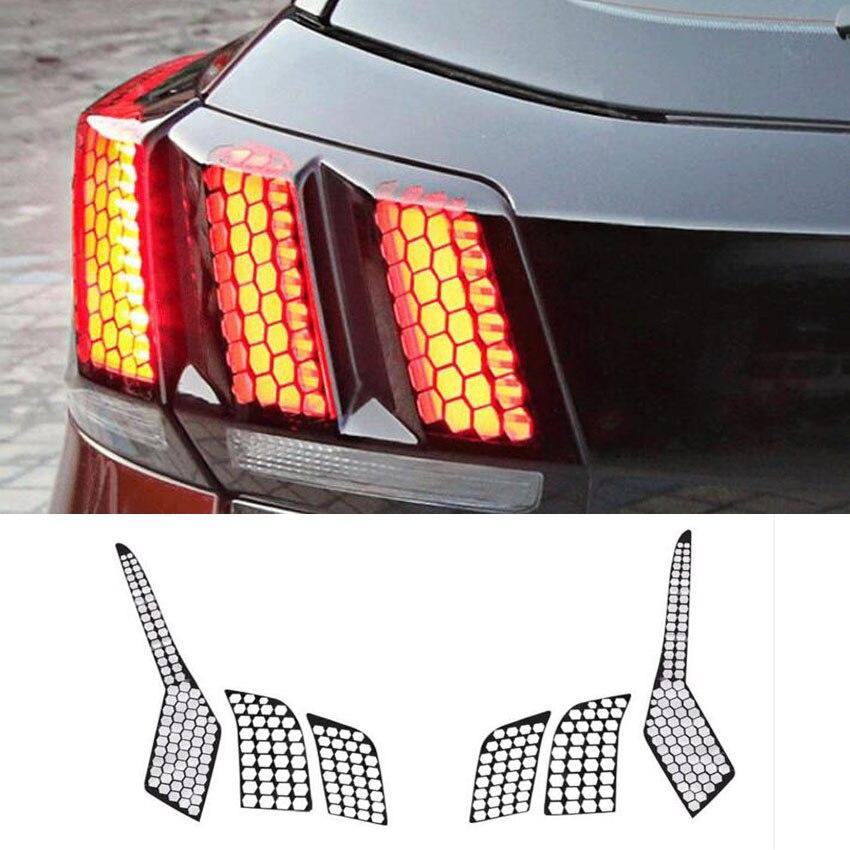New Car Auto Accessories Rear Tail Light font b Lamp b font Honeycomb Protector Decoration Sticker