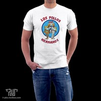Breaking Bad Los Pollos Male Unisex O Neck 100 Ring Spun American Cotton 180g Short Sleeve