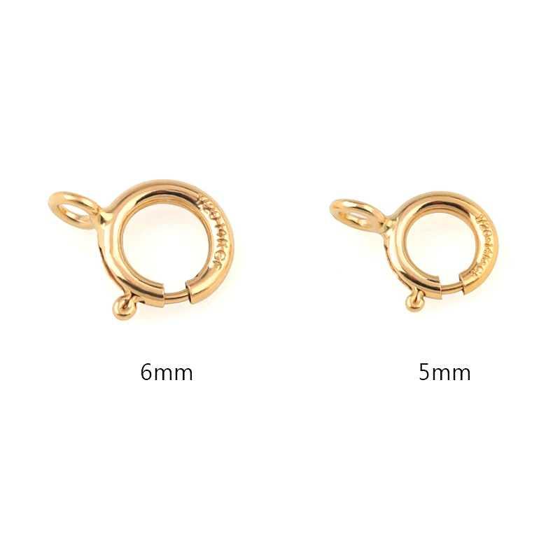 Chất Lượng tốt nhất MỘT đôi 5mm 6mm vàng 14K đầy Nhẫn tay Móc Cài Móc VÀNG 14K Kết Nối cho Vòng Cổ Vòng Tay DIY Móc Khóa