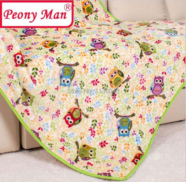 New Hot Flannel Baby Blanket 100*140 Kids Cartoon Super Soft Blankets Bebe Aircon Child Sheet Thick Warm Winter Fleece Cobertor