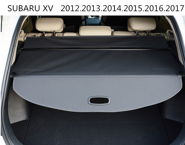 Car Rear Trunk Security Shield Cargo Cover For SUBARU XV 2012.2013.2014.2015.2016.2017 High Qualit Black Beige Auto Accessories car rear trunk security shield shade cargo cover for toyota highlander 2009 2010 2011 2012 2013 2014 2015 2016 2017 black beige