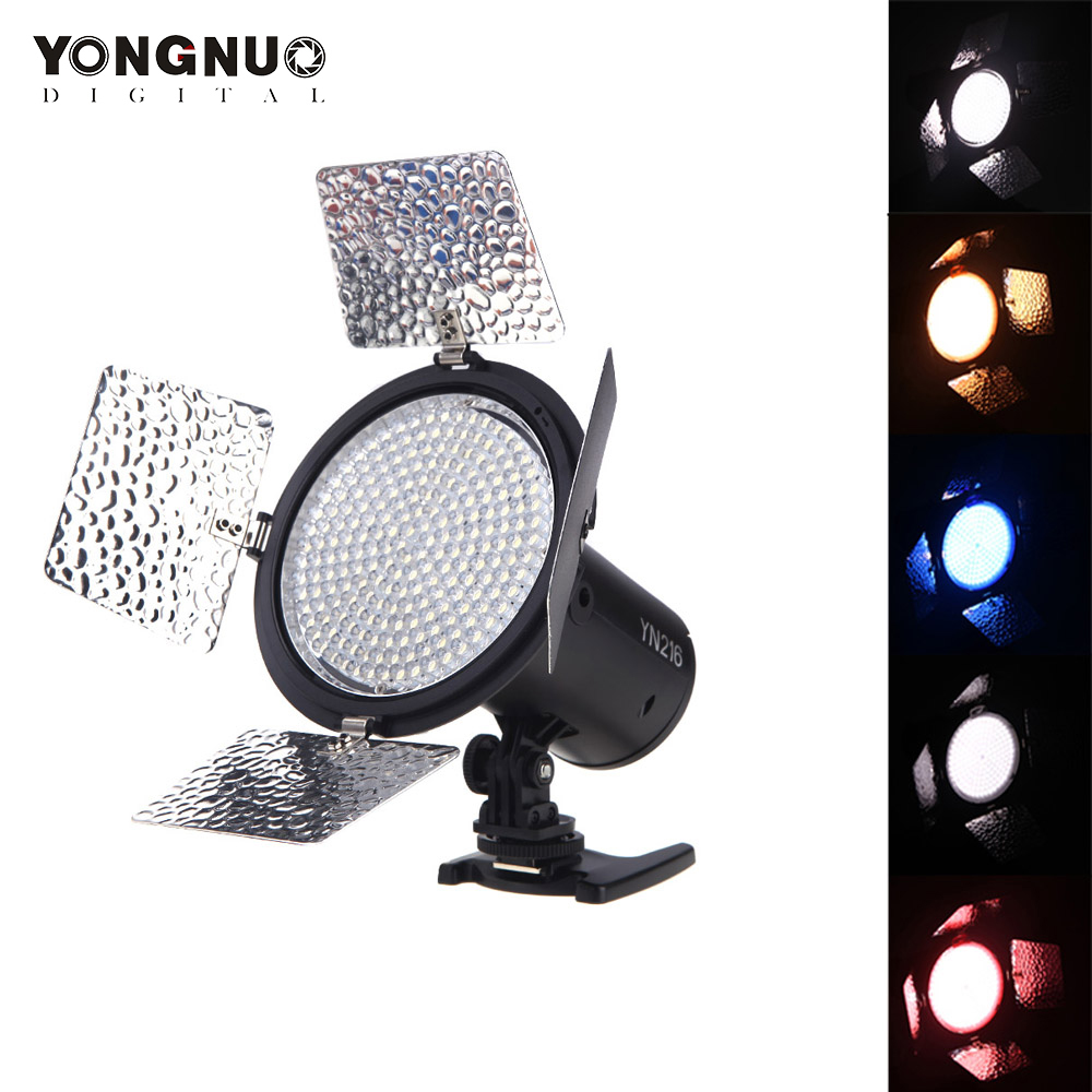 Yongnuo YN 216 YN216 LED Studio Video Light Photography Light With 4 Color Charts for Canon