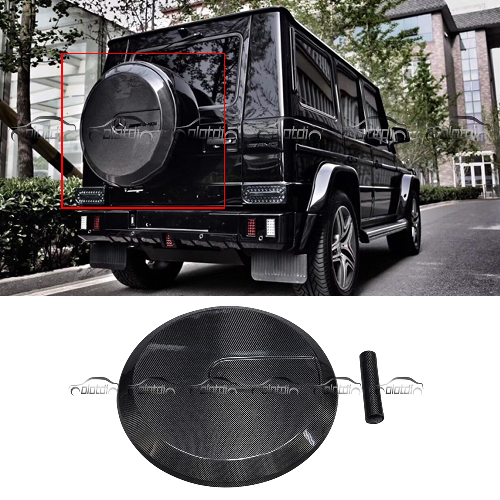 for Mercedes Benz W463 G305 G500 G55 G65 2002 2014 Carbon Fiber Body Kits Spare Wheel Tire Cover