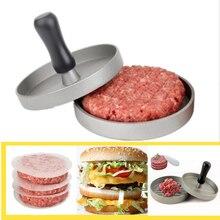 1 комплект круглой формы гамбургер Пресс из алюминиевого сплава 11 см мясо для гамбургеров гриль для говядины пресс для бургеров Пэтти мейкер плесень