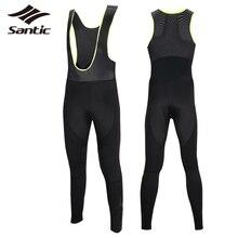 Santic Men Cycling Bib Pants 2016 Breathable Thermal Outdoor Sport Pants Mtb Bicycle Downhill Bike Pants Tights cuissard velo