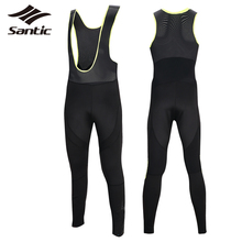 Santic Men Cycling Bib Pants 2017 Breathable Thermal Outdoor Sport Pants Mtb Bicycle Downhill Bike Pants Tights cuissard velo