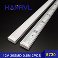 2017 New 2pcsx50CM 5730 rigid strip LED Bar Light  36LEDs Kitchen led light LED DC 12V LED Hard LED Strip with U falt cover