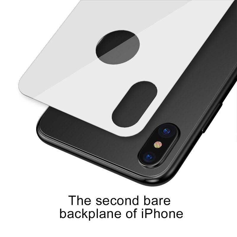 Miếng dán kính cường lực 3D mặt sau lưng cho iPhone X - Xs - XS Max hiệu Baseus
