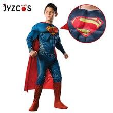 JYZCOS Superman Costume for Boys Kids Halloween Superhero Cosplay Costume Christmas Purim Carnival Costume Party Fancy Dress