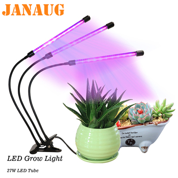 LED Grow Light Full Spectrum for Indoor House Plants Auto ON/Off switch timer color Adjustable Goose Neck Plant Growing Lamp
