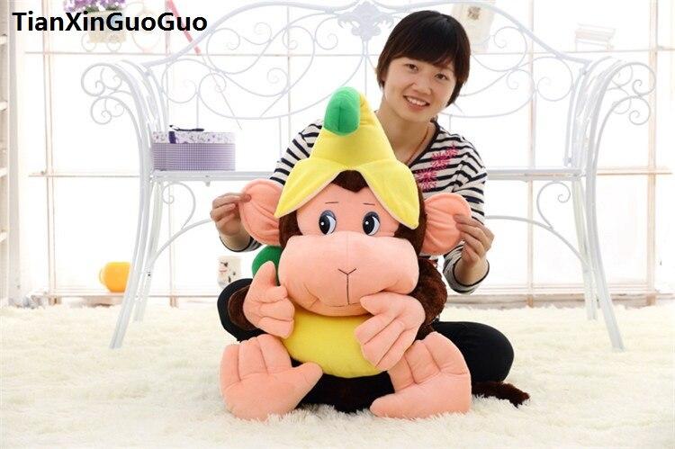 Sur 55 cm belle banane singe en peluche peluche poupée coussin cadeau d'anniversaire s0567