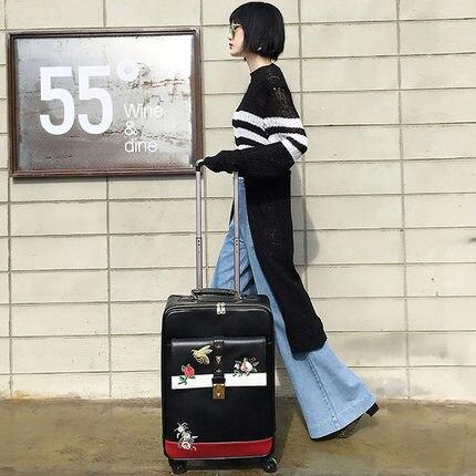 Carrylove 패션 수하물 시리즈 16/20/24 inch 크기 고품질 자수 purolling 수하물 회 전자 브랜드 여행 가방-에서롤링 짐부터 수화물 & 가방 의  그룹 3