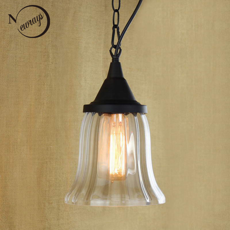 Recycled retro Hanging clear glass cup Pendant Lamp with Edison Light bulb|Kitchen Lights and Cabinet Lights moritex cup lights lm 100 mcr100 12v100w uv bulb