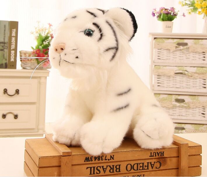 Hot Sale New Cute Plush White Tiger Toy High Quality Sitting Tiger