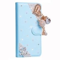 Lady Style Love Heart Bling Skin For Samsung Galaxy Note 8 SM-N950 Flip Glitter Rhinestone Diamond Wallet Leather Handmade Case