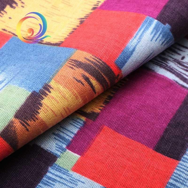 プリントのコットンリネン生地パッチワークキルティング縫製diyソファテーブルクロス家具カバーティッシュカーテンバッグクッション生地