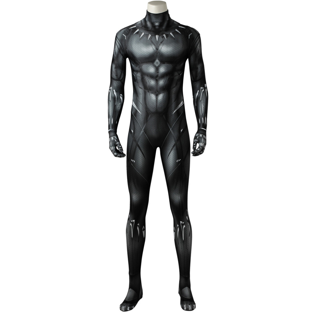 Black Panther Cosplay Costume Jumpsuit 3D Printed Black Panther Bodysuit Zentai Costume For Halloween Carnival Party