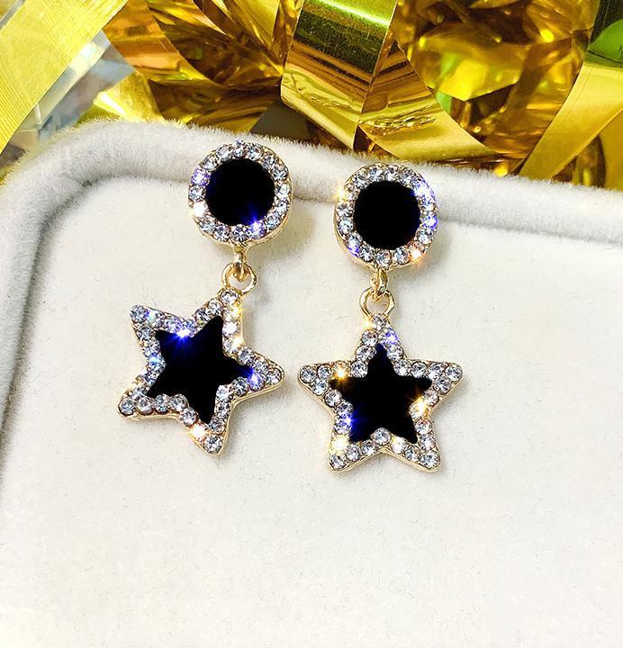 Boucle d'oreille petit frais et Simple boucles d'oreilles tempérament dames strass cercle femmes boucle d'oreille bijoux accessoires Oorbellen 6