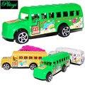 Los niños de plástico toys modelo de autobús autobús de vuelta a la escuela al por mayor lote mixto de lujo 25g pi0701