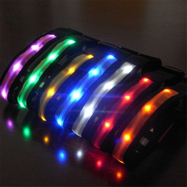 gl003 licht spot led halsbanden beer afdrukken hond knipperende led verlichting veiligheid nylon night glow
