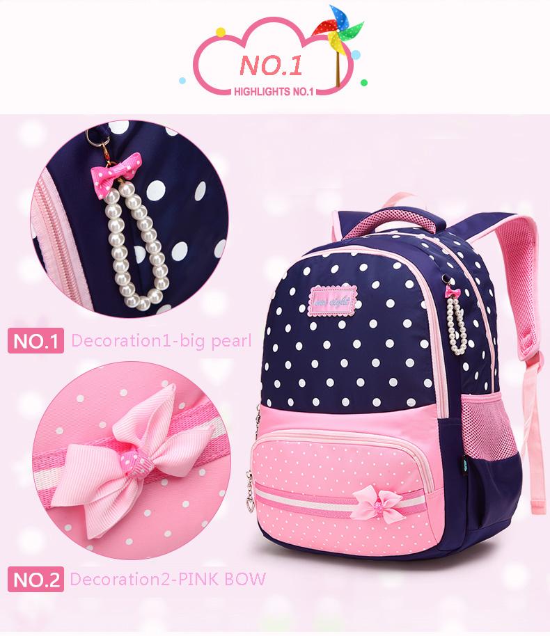 ab5bc1260256 New Arrival Waterproof Girls School Bags Fashion Backpack Kids ...
