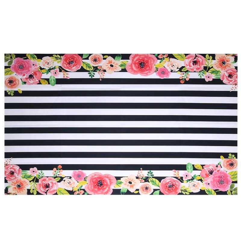 Flowers Frame Digital Photography Background Black And White Stripes Backgrounds Arc Cloth Vinyl Backdrops Photo Props custom10ftx20ft vinyl studio photography digital props backgrounds e 3742 maple leaf backdrops cloth
