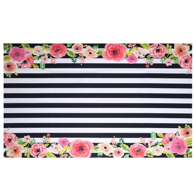 Flowers Frame Digital Photography Background Black And White Stripes