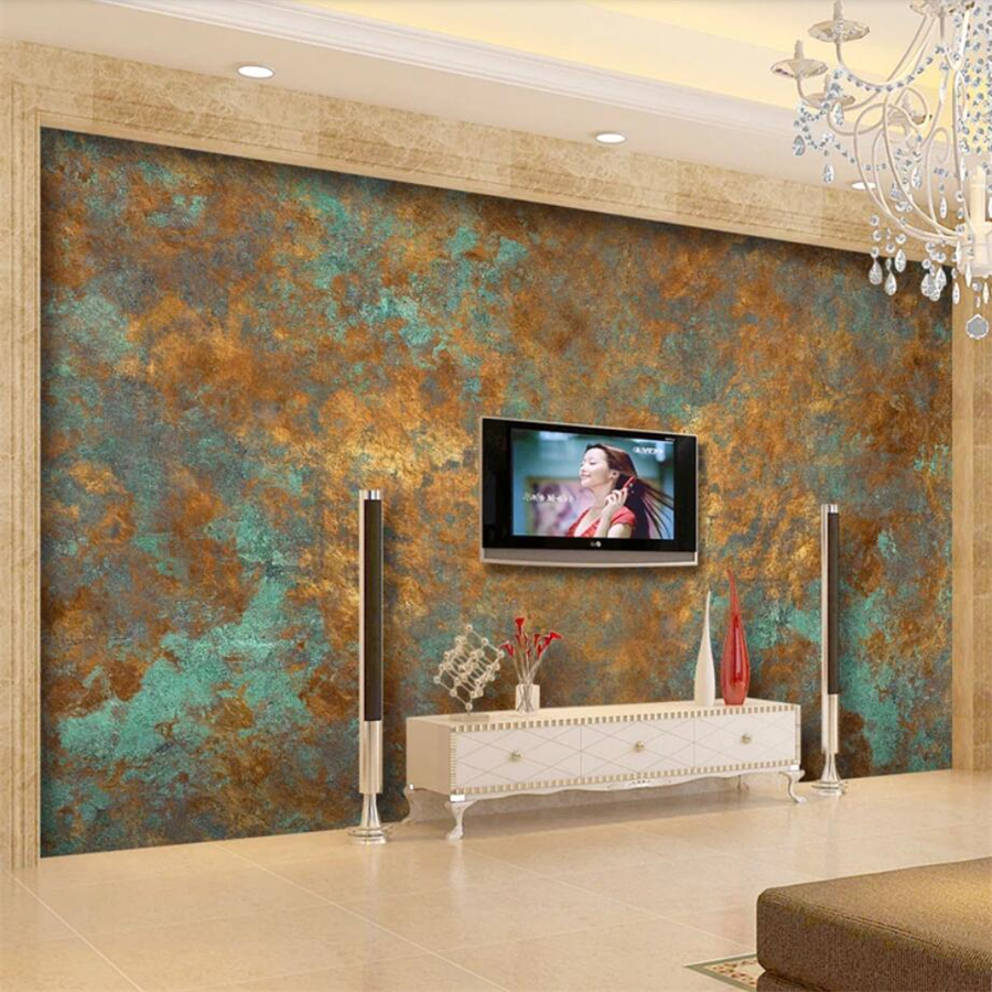 beibehang Custom wallpaper 3d murals European luxury vintage rust rust TV background wall painting papel de parede 3d wallpaper