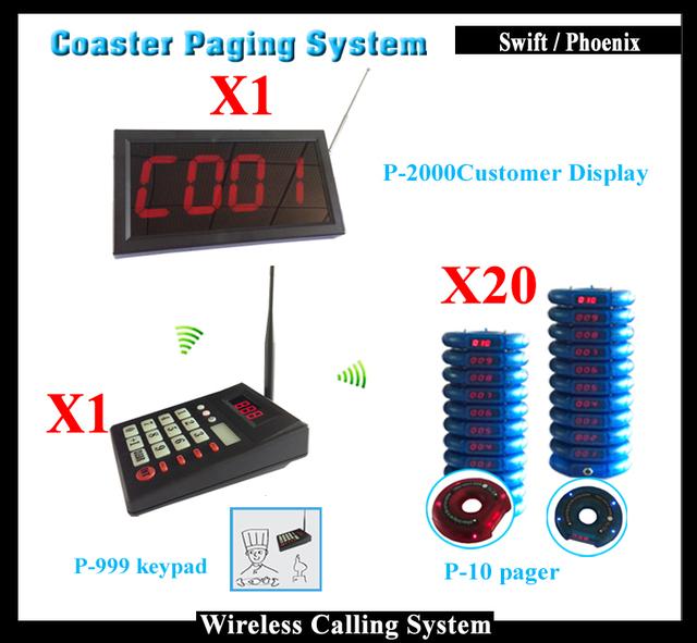 Visualización del número de Contador y Coaster pager y Teclado Numérico Para Números de Comida Rápida Restaurante Sistema de Llamada de Buscapersonas