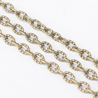 100m/roll Gold Sliver Iron Cross Chain for jewelry DIY making bracelet necklace Oval Link: 4mm long, 3mm wide, 1mm thick F80