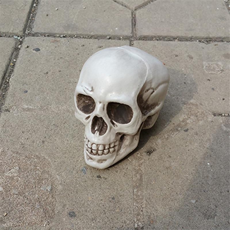 2 darab kis méretű koponya 100% -os műanyag halloween díszdobozok - Ünnepi és party kellékek