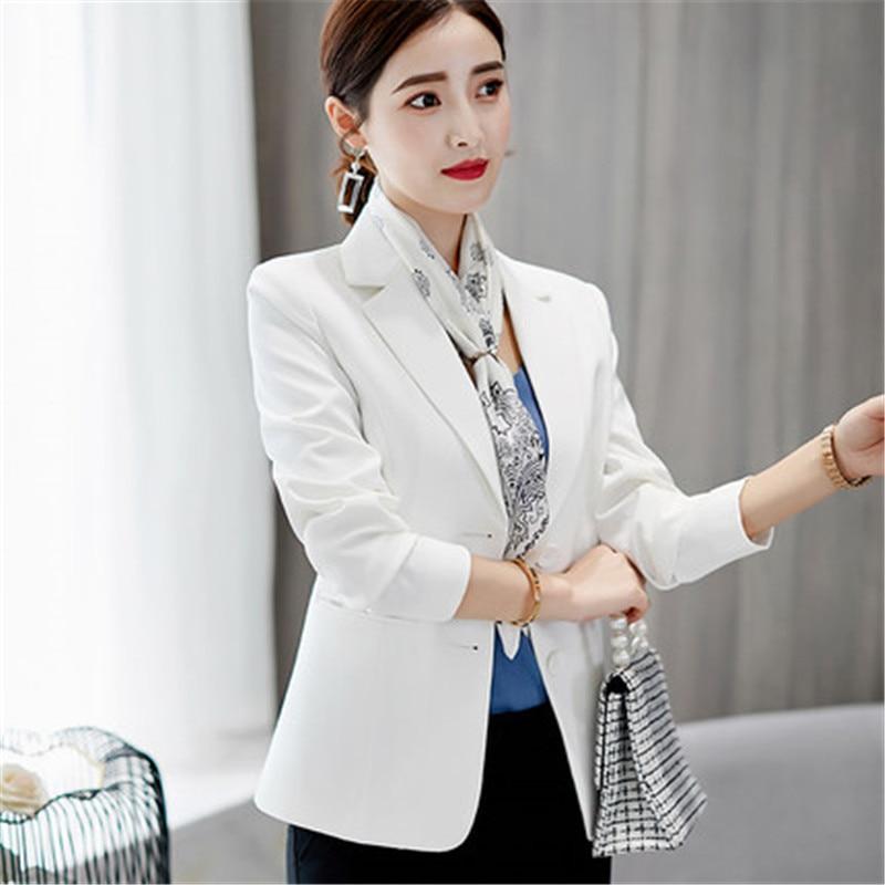 2018 Frauen Blazer Schlanke Büro Damen Elegante Einreiher Solide Blazer Neue Mode Koreanischen Beiläufigen Frauen Mantel Einfache Weiche