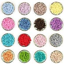 * 500 Chiếc Ốp Đậu Lăng Bàn Tính Hạt 12Mm Bé Mọc Răng Hạt Không Chứa BPA Bé Miếng Dán Mặt Vòng Cổ Núm Vú Giả Dây Chuyền dụng Cụ