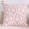 Вышитая наволочка  декоративная наволочка  домашний декор  Розовые Геометрические подушки  Наволочка на диване  вышитые подушки