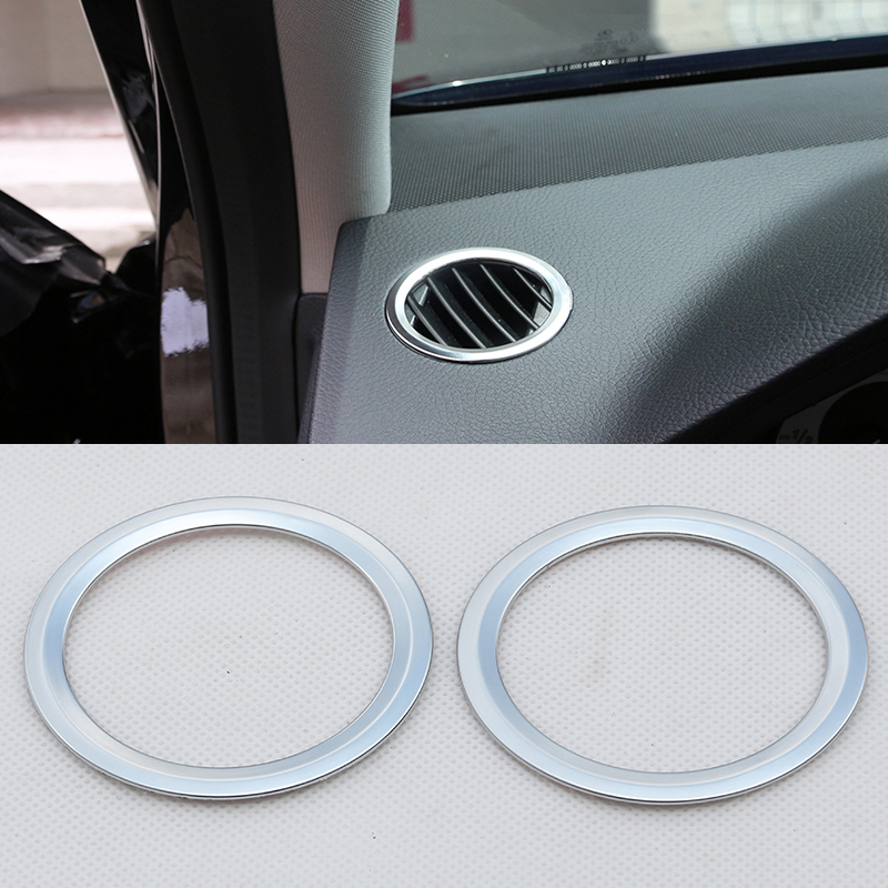 2Pcs ABS <font><b>Chrome</b></font> Interior AC Air Vent Outlet Cover Trim Decoration For <font><b>Mercedes</b></font> Benz GLK X204 ML <font><b>W124</b></font> GL X164 2012-2016 Car Auto image
