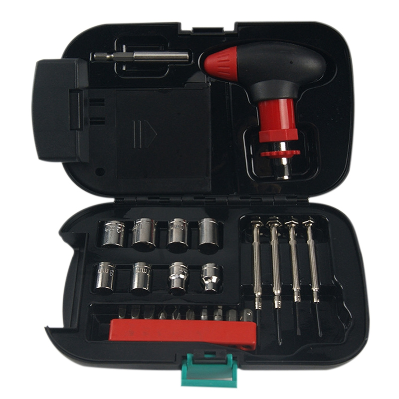 Emergency Car Multifunction Toolbox With 24 Sets Of Household Hardware And Tools Portfolio