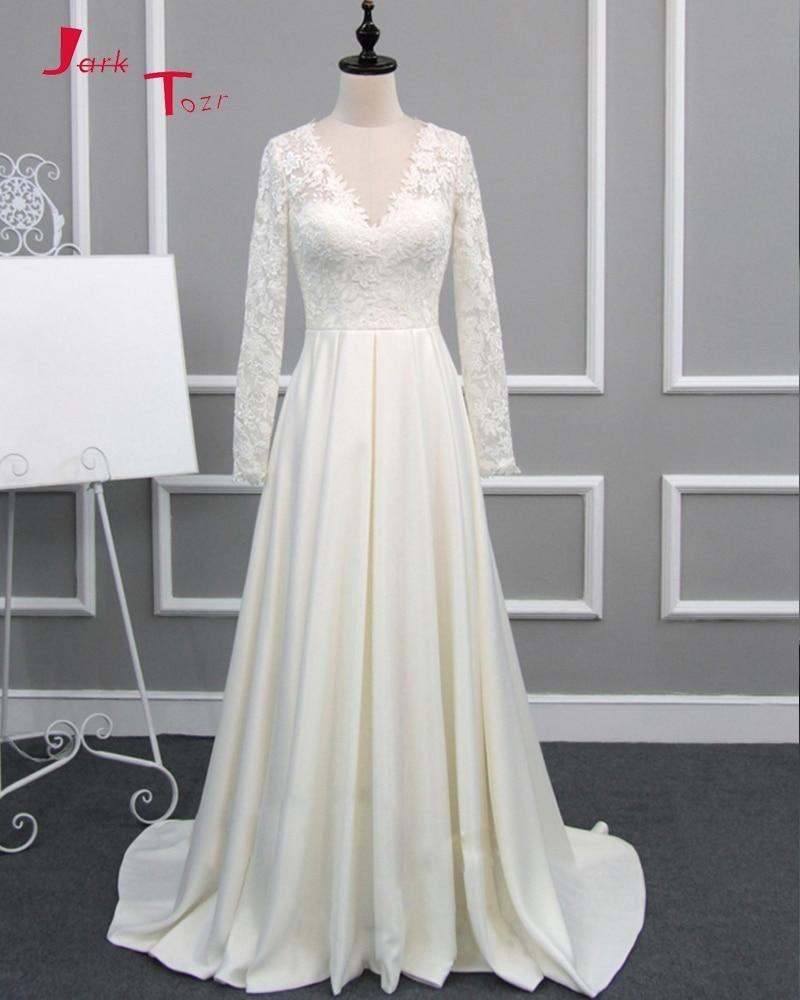 Cowl Neck Silk Sheath Wedding Gowns: Aliexpress.com : Buy Jark Tozr 2019 New Arrive Full Sleeve