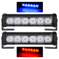 exLED Car grille lamp bright light 2 in1 LED red/blue warning light with long light